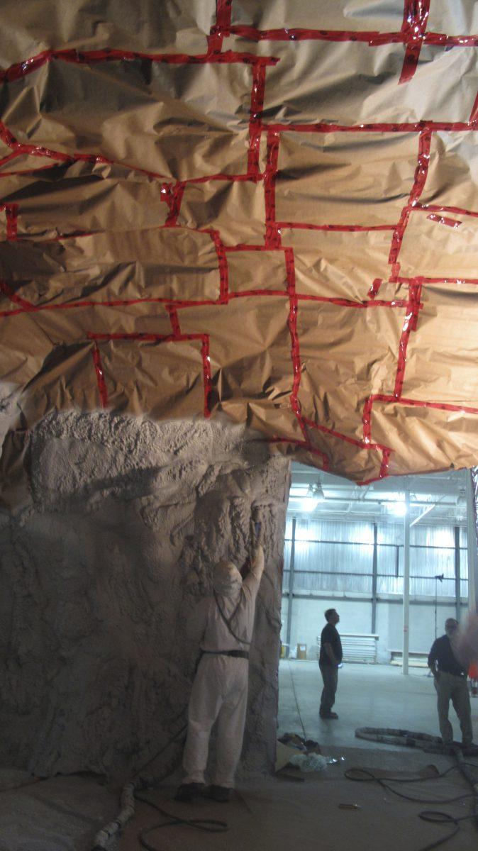 The cave set build