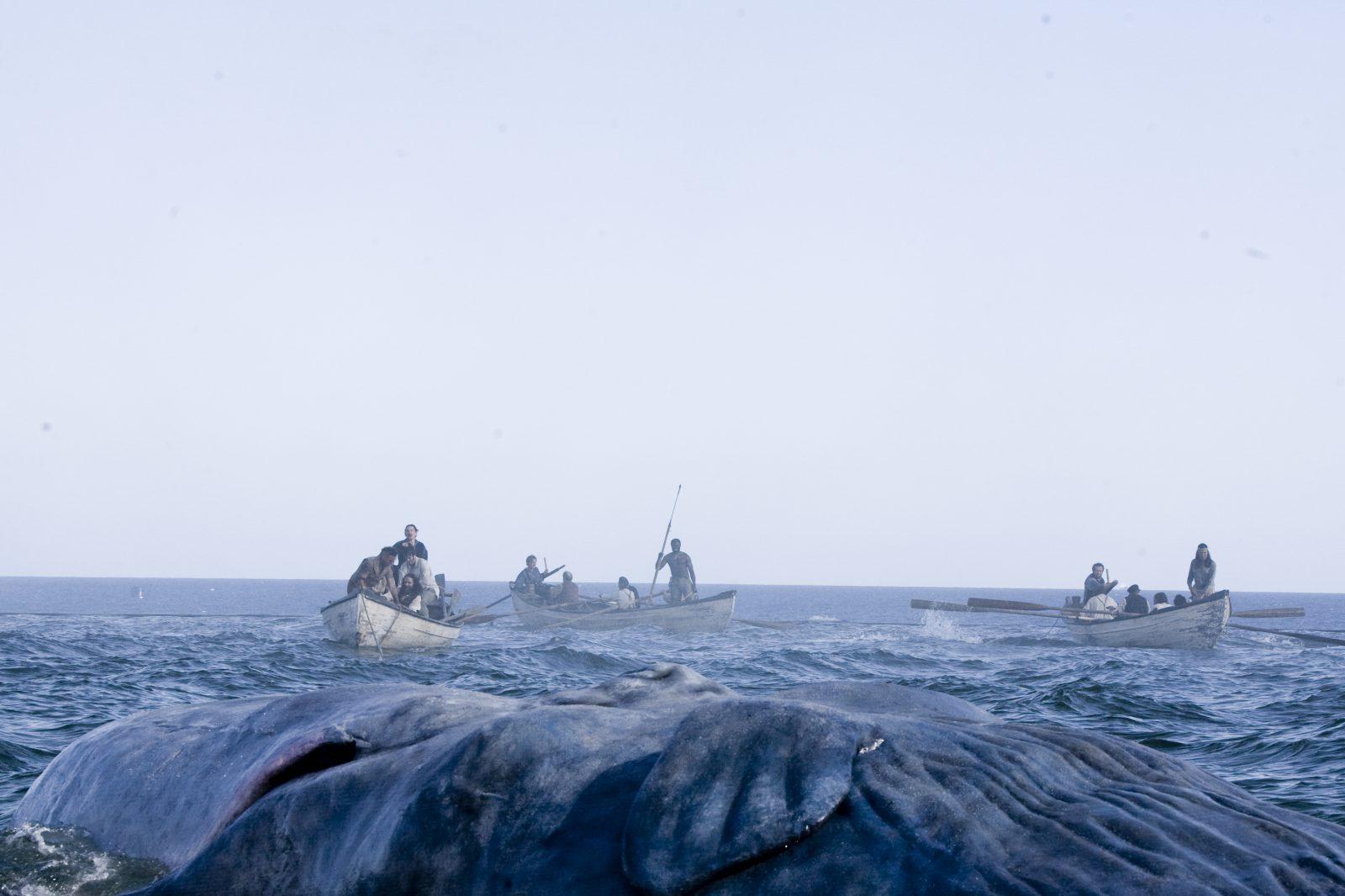 Ocean scene featuring whale